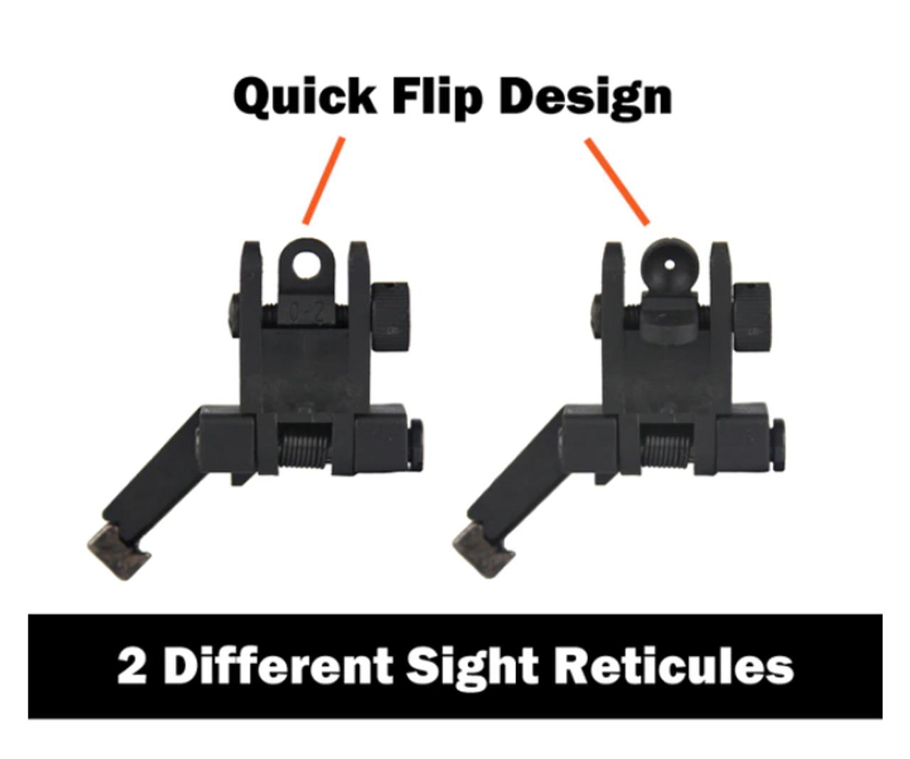 45 Degree Offset Flip Up Sights