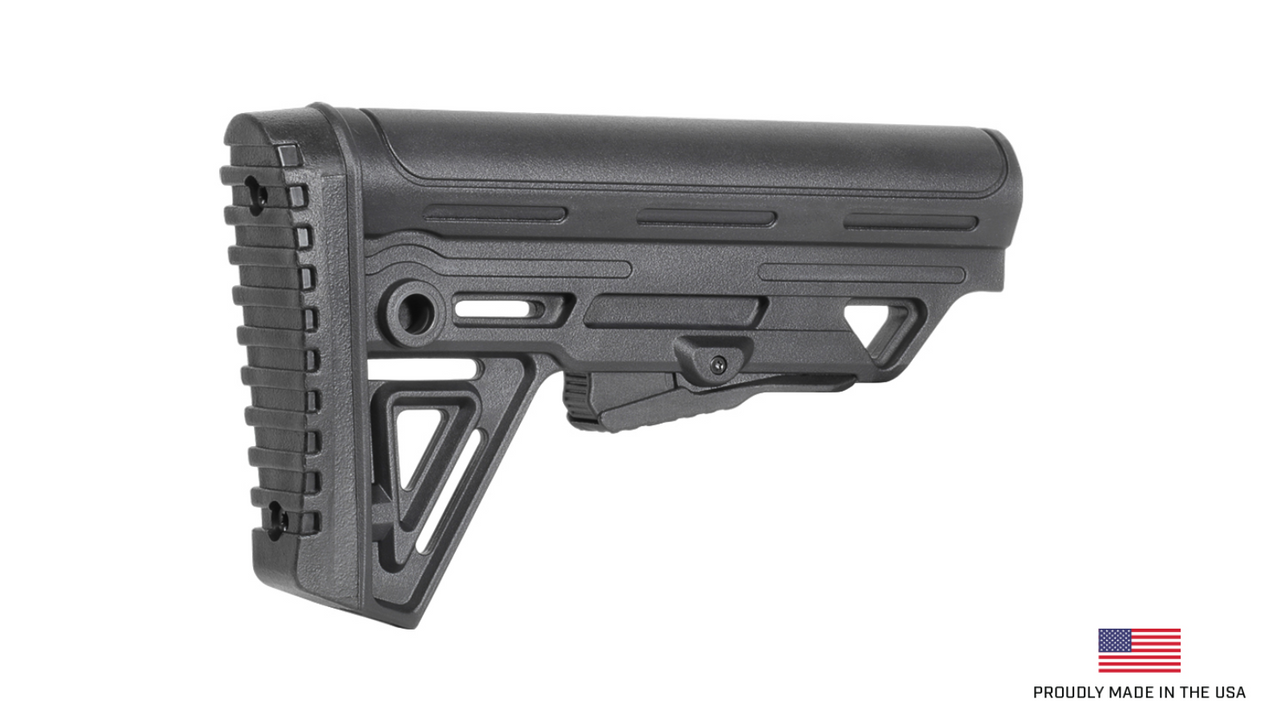 Alpha Mil Spec Collapsible Rifle Butt Stock - Black
