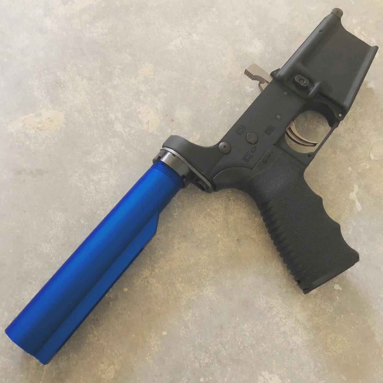MCS Blue Anodized Mil-Spec 6-Position Buffer Tube