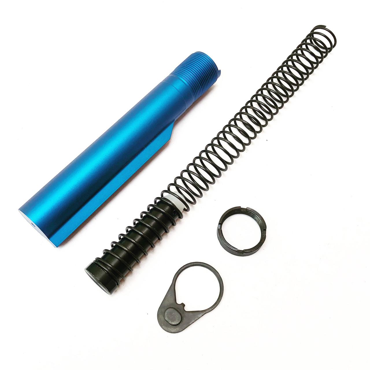 MCS Mil-Spec 6-Position Buffer Tube Kit in Blue.