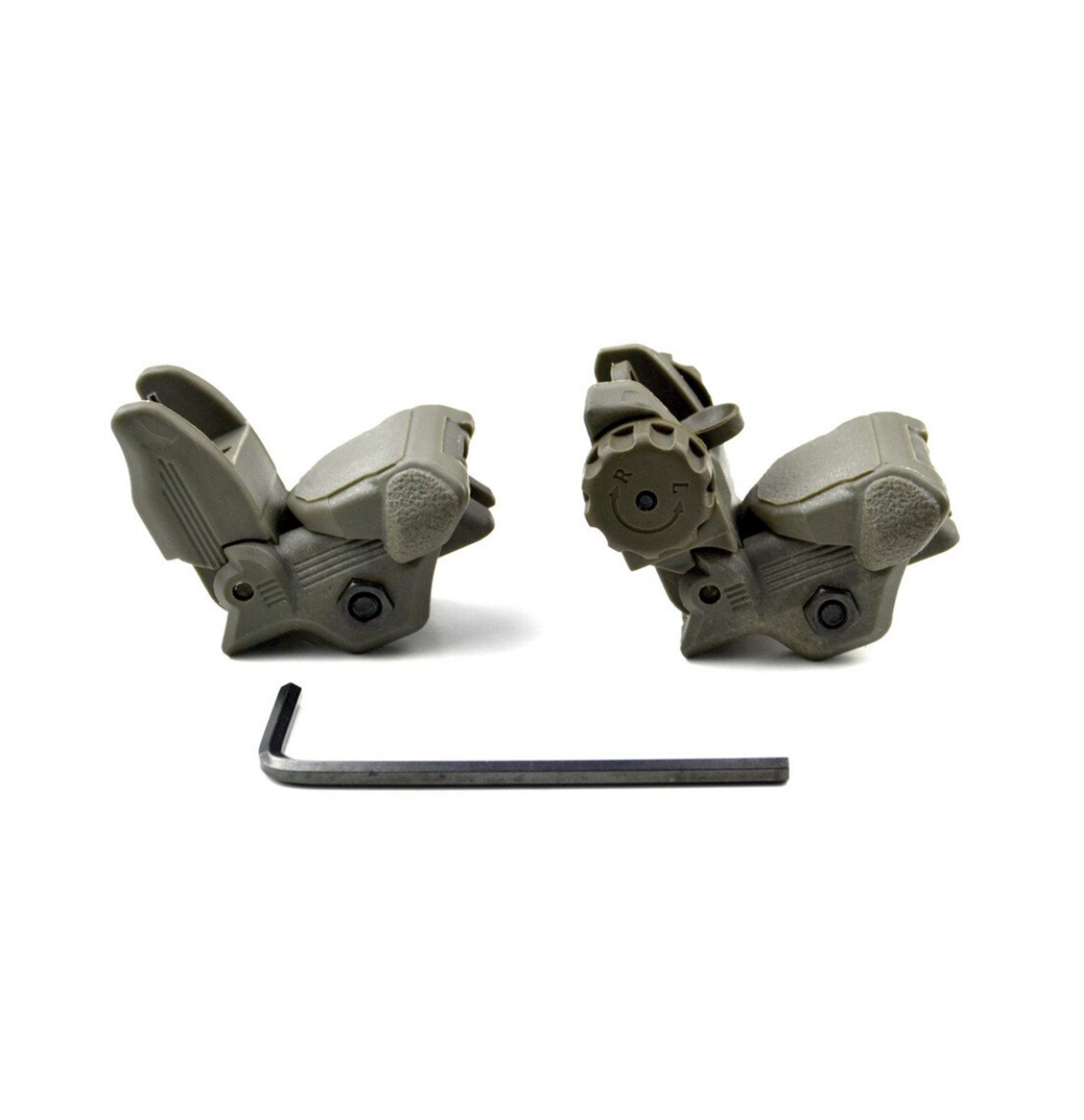 Polymer Front and Rear Flip Up Back Up Sight Set