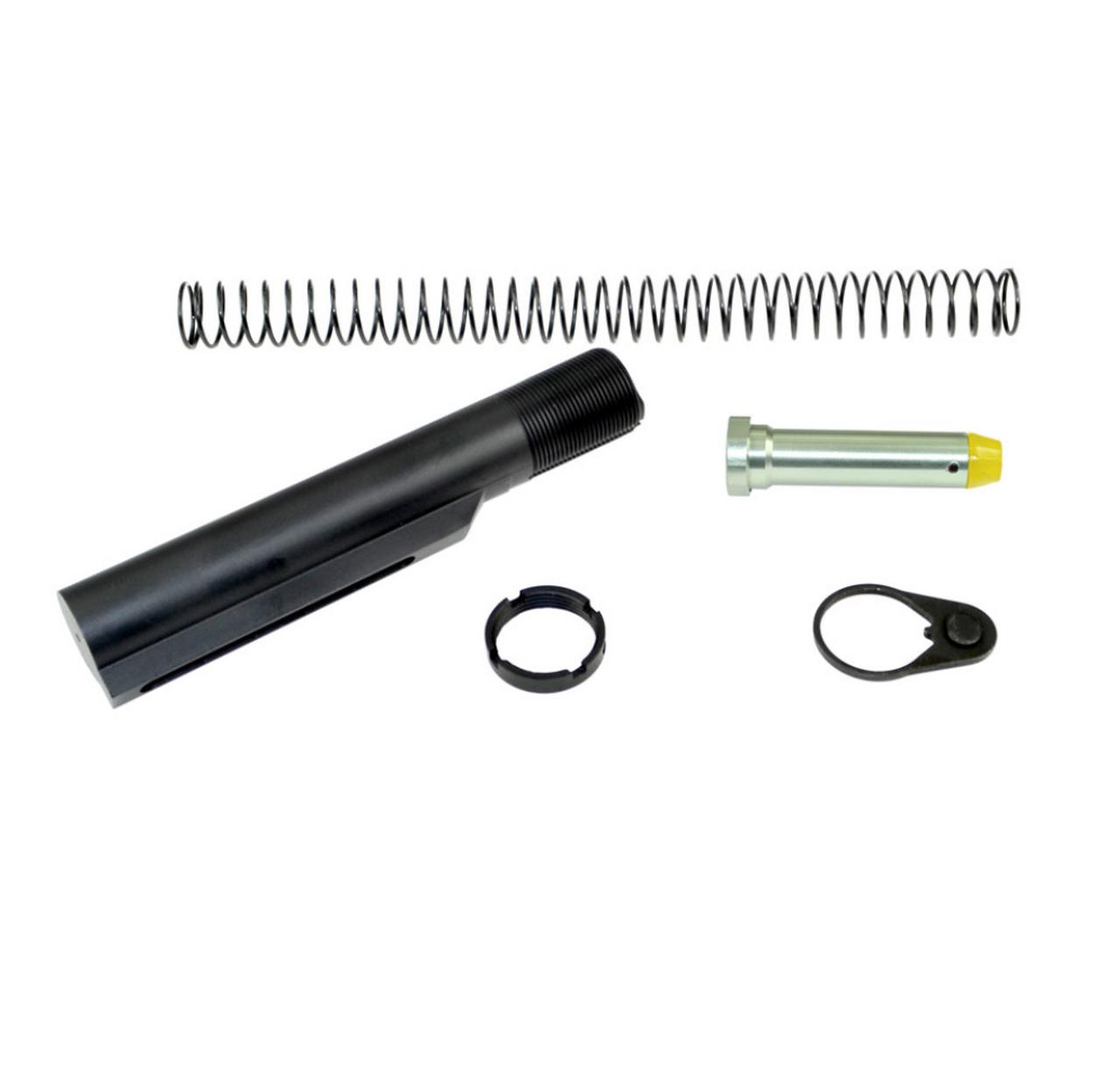 AR-15 6 Position Aluminum Buffer Tube Kit, Mil Spec