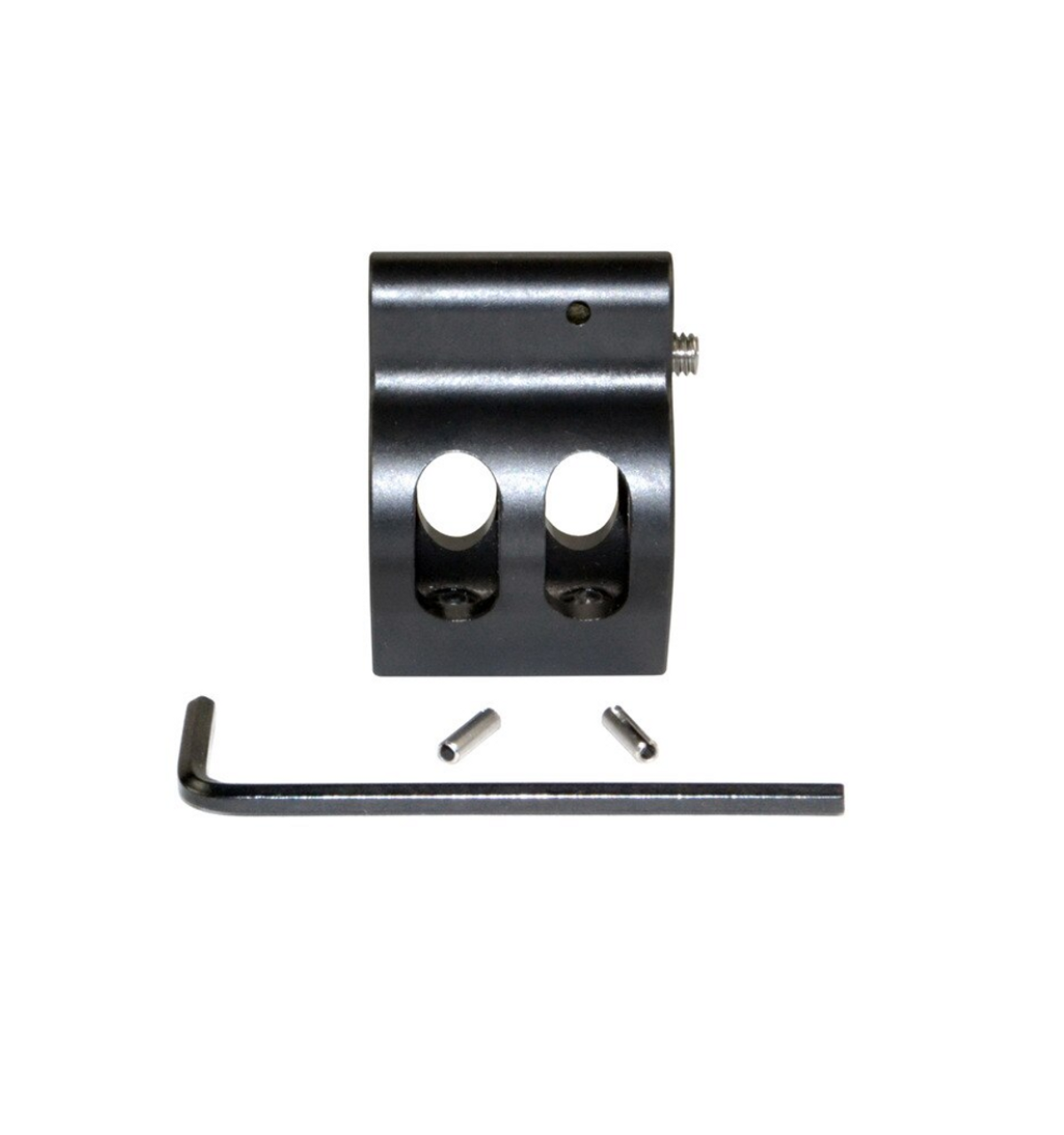 ".750"" Adjustable Low Profile Gas Block, Black Steel"