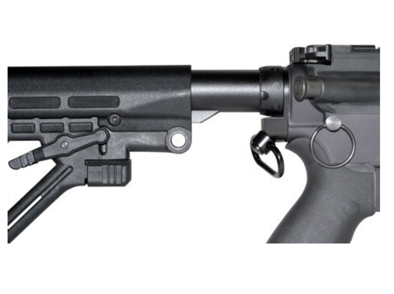 """Aluminum Receiver End Plate with 1"""" Sling Adapter for AR .223/5.56/.308 Buffer Tubes"""