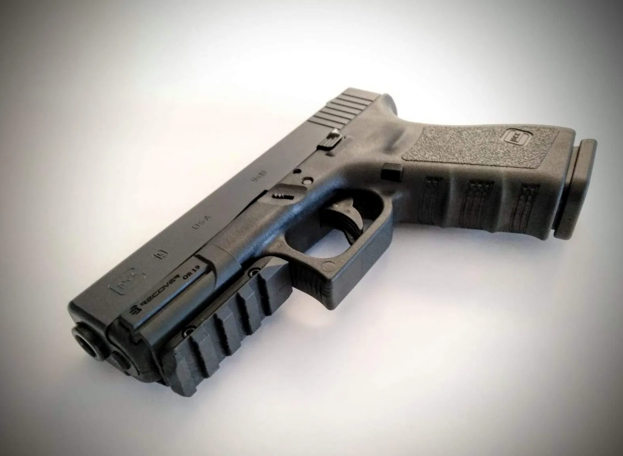 OR19 Picatinny Over Rail Adapter Glock 17 and 19 Gen 3-5