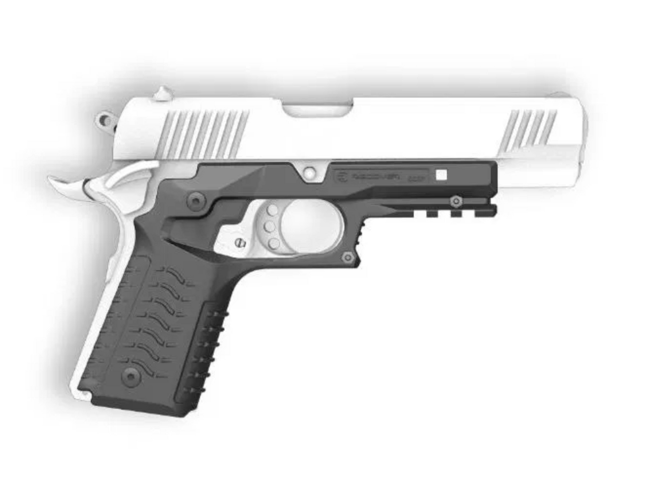 Recover CC3H Grip and Rail System for the 1911