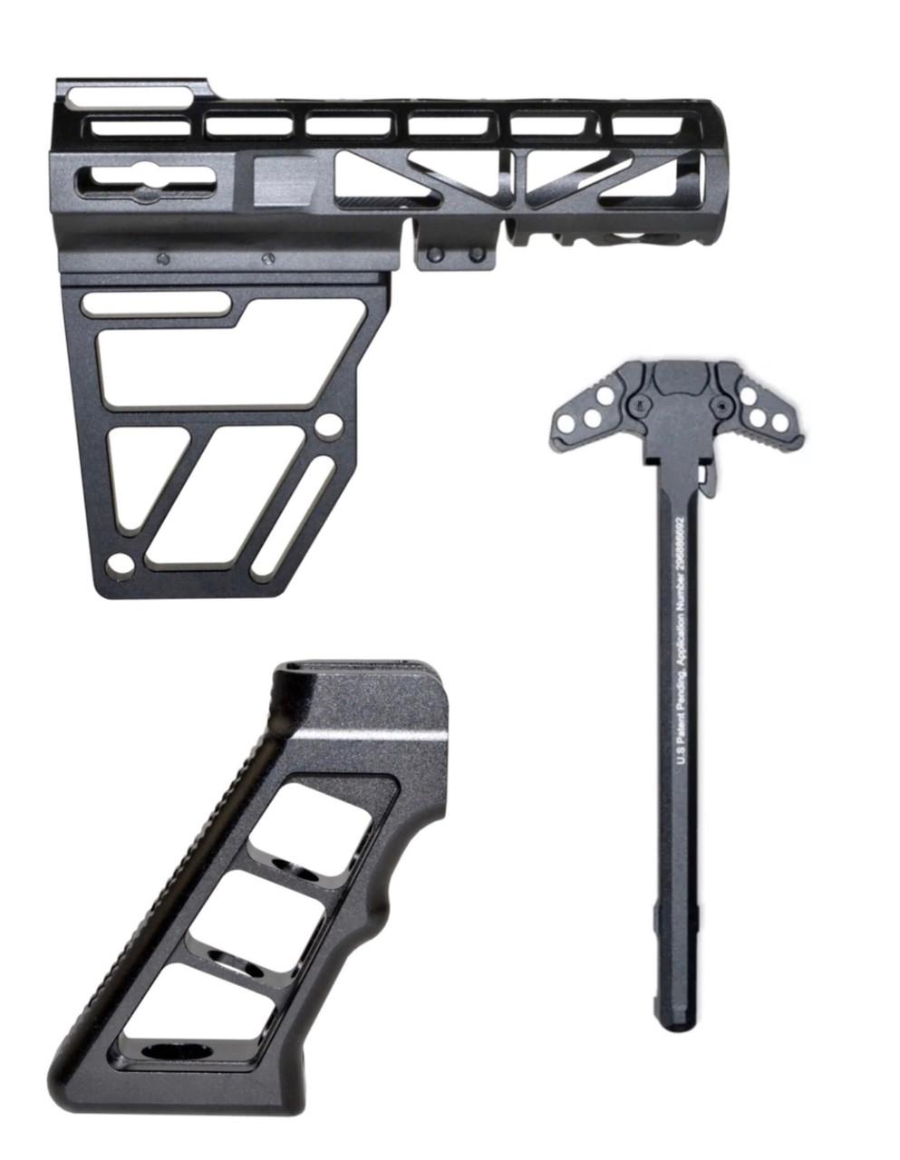 Skeletonized AR15 Combo Anodized Aluminum
