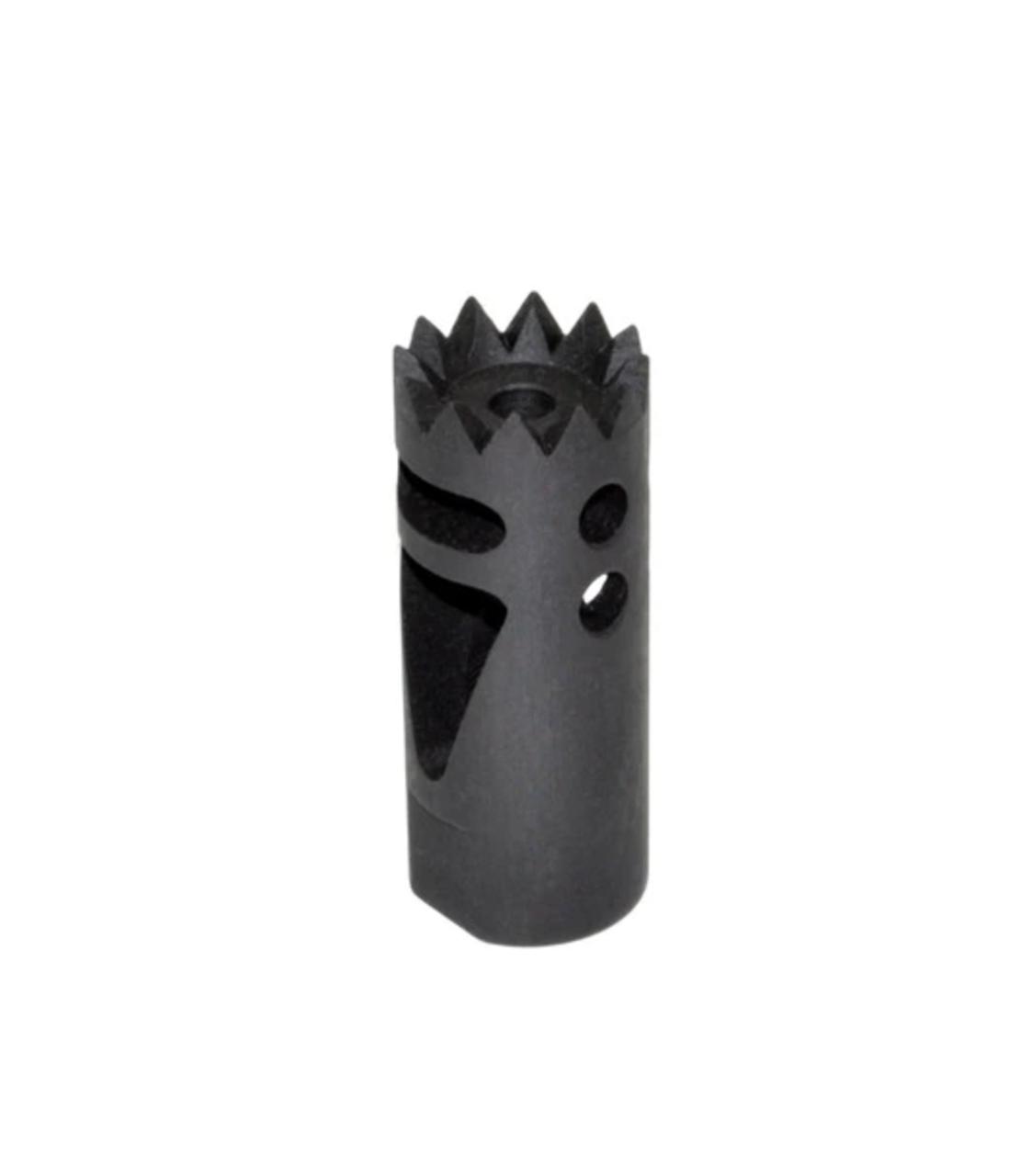 "Steel Competition Grade Muzzle Brake Recoil Compensator for AR-15 .223, 1/2""x28 thread, Gunmetal Black"