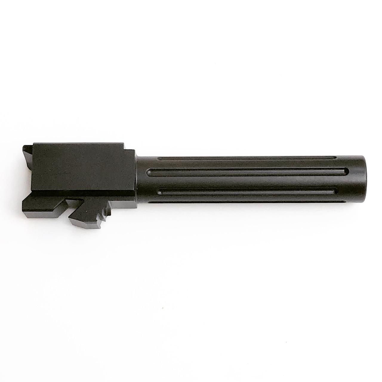 G19 Black Nitride Fluted Barrel for Glock 19 9mm Stock Length Made in USA