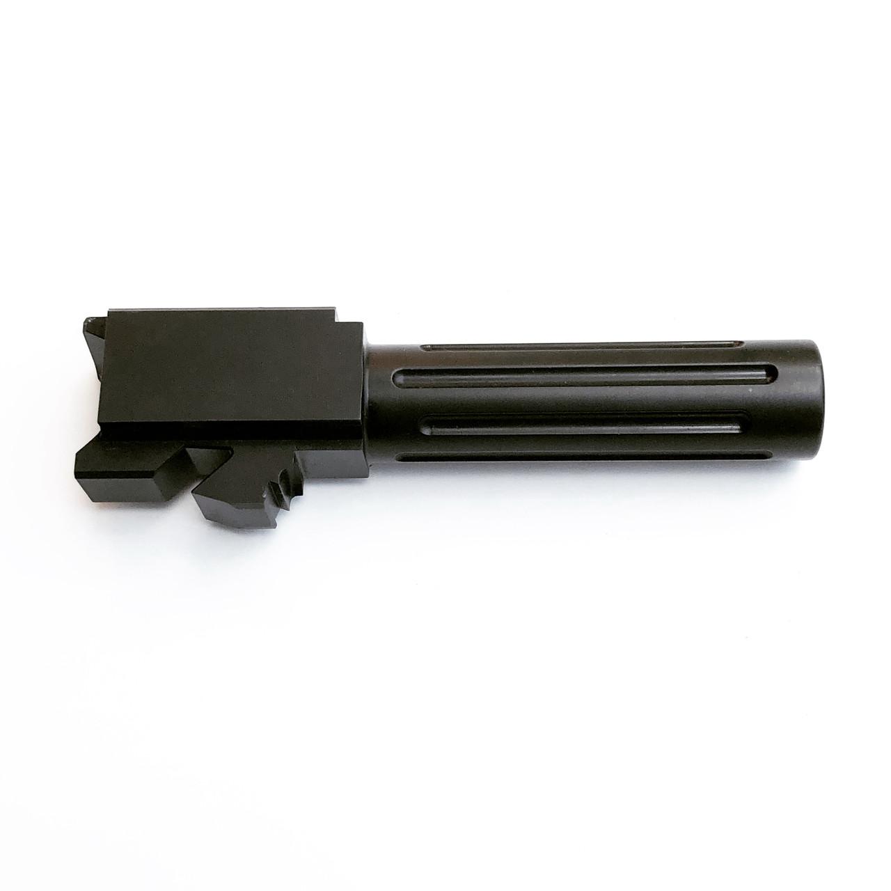 G26 Black Nitride Fluted Barrel for Glock 26 9mm Stock Length Made in USA