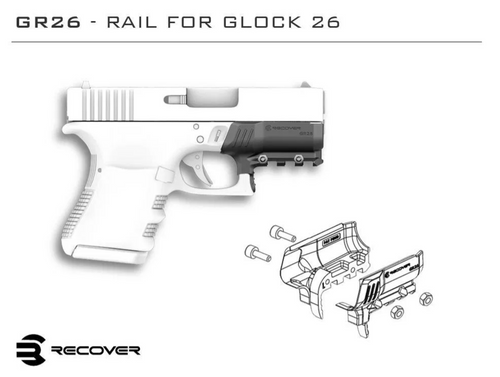 GR26 Rail Adapter For Glock 26 and 27