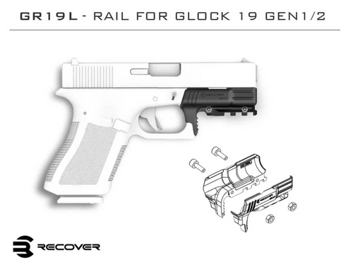 GR19L Rail Adapter for the Glock 19 Gen 1 & Gen 2