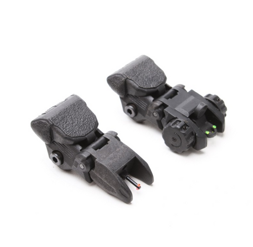 Polymer Flip Up Front And Rear Sight w/ Red And Green Dots
