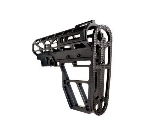 Skeletonized AR Mil Spec Buttstock Black Anodized Aluminum