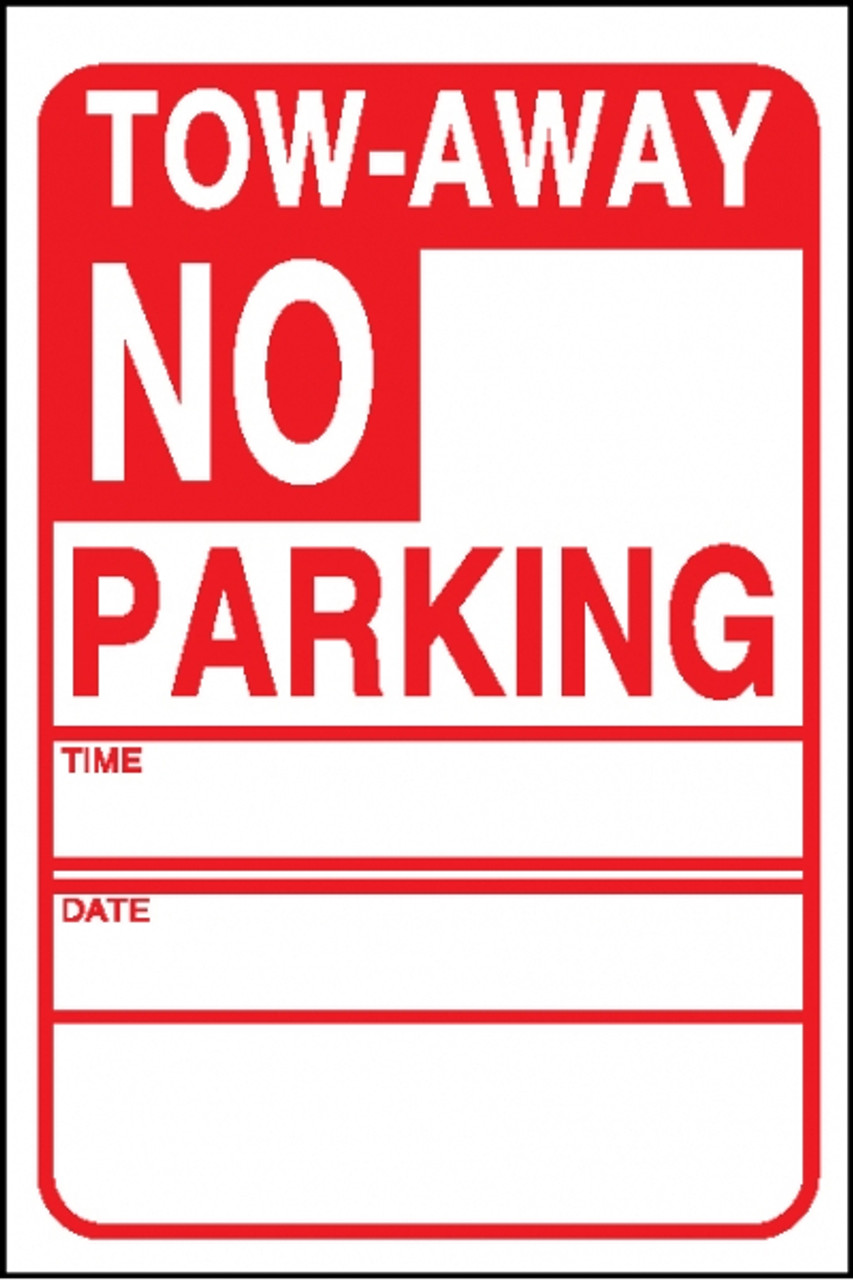 NO PARKING TOW-AWAY W/ CA CVC