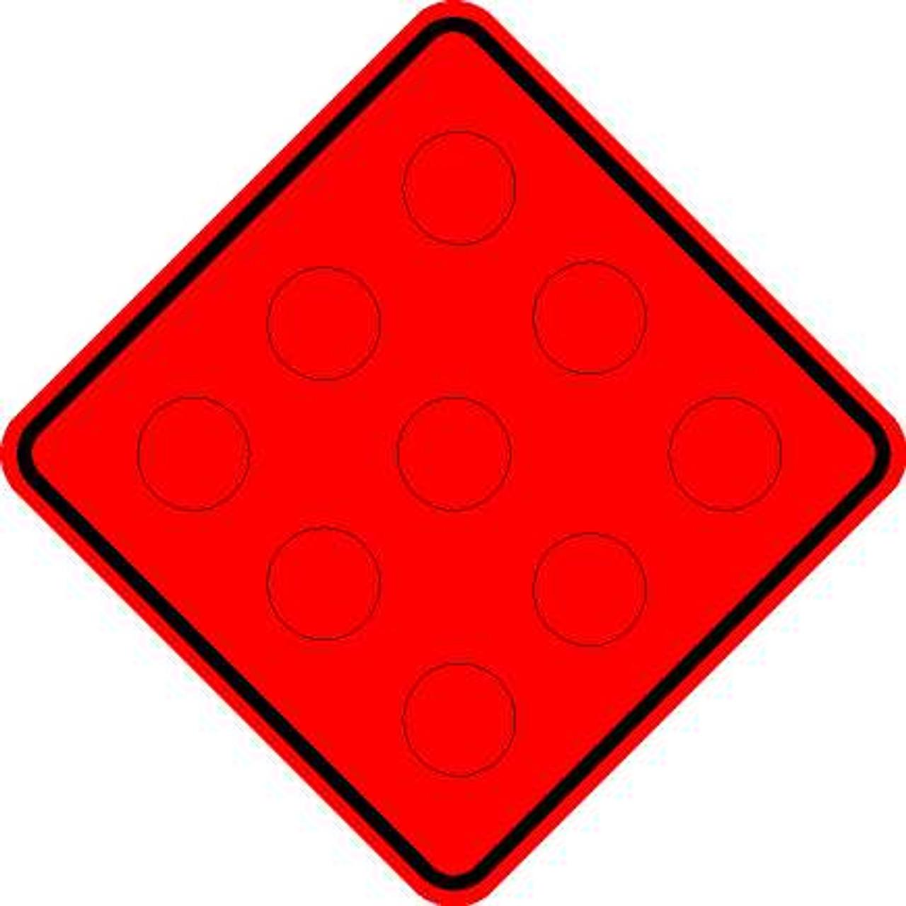 N5 MARKER RED W/REFLECTORS