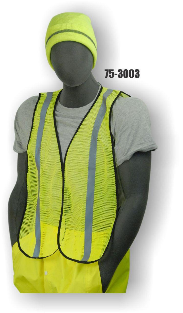HI-VIZ GREEN SAFETY VEST - 75-3003