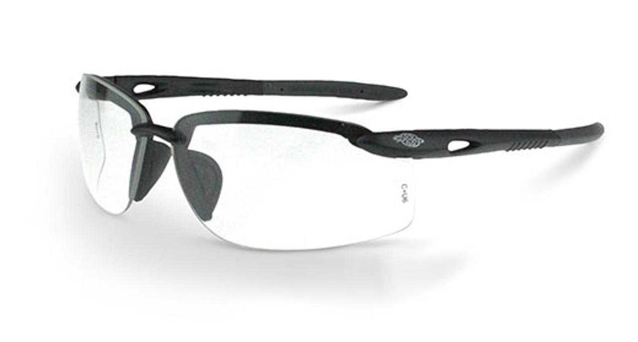 ES5W Matte Black Frame Clear Lens