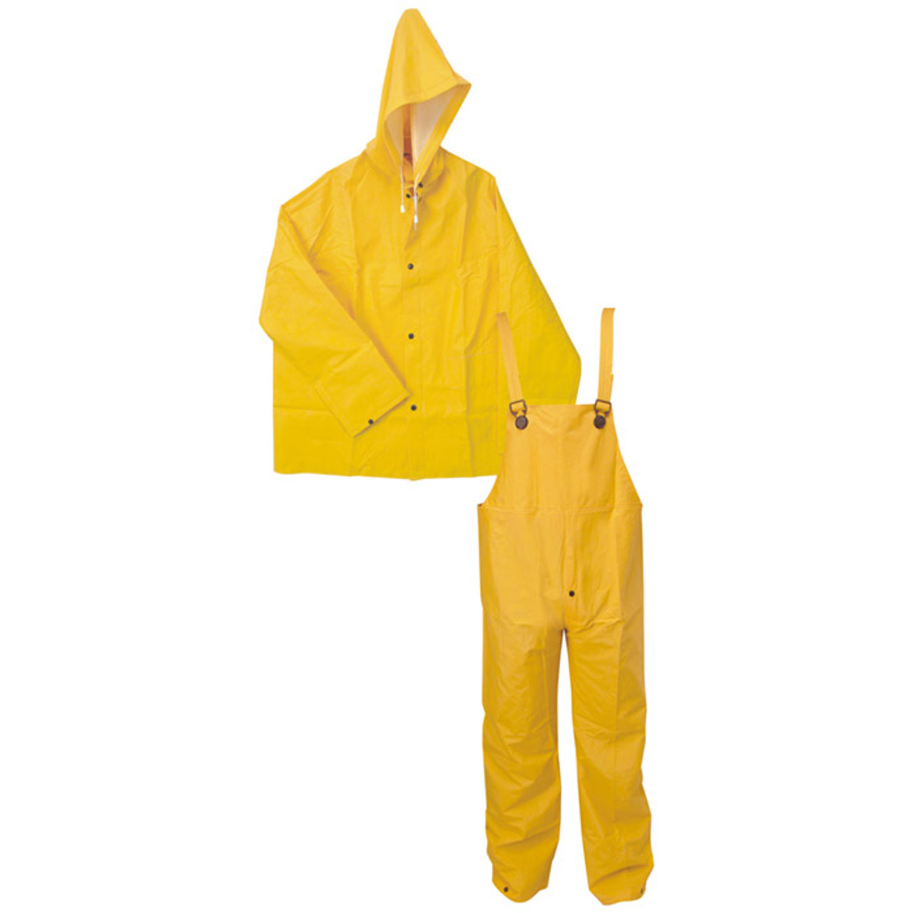 3 PIECE .35mm PVC RAIN SUIT - YELLOW