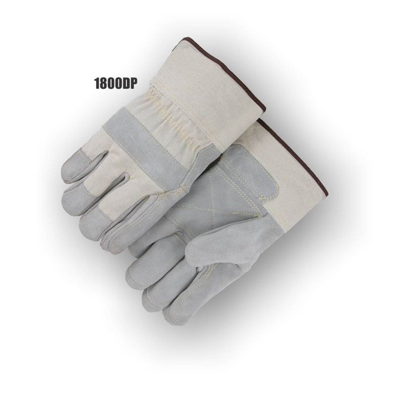 1800DP SPLIT COWHIDE DOUBLE PALM , LARGE (DZ)