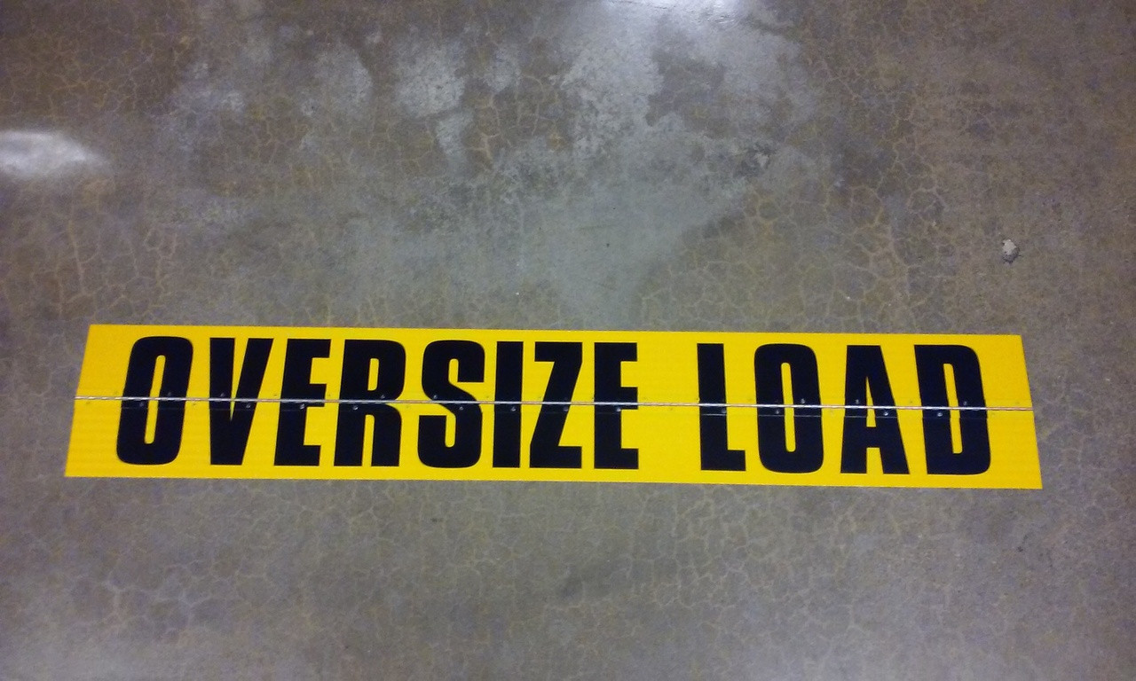 """OVERSIZE"" SIGN - CUSTOM FOLD UP"