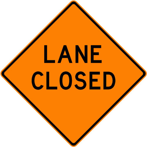 "(C30) LANE CLOSED - 48"" REFL"