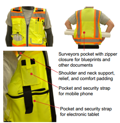 YELLOW SURVEYOR VEST - 75-3235