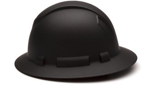GRAPHITE FULL BRIM HARD HAT, 4-POINT SUSPENSION