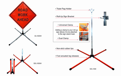 ALUMINUM SCREW LOCK SIGN STAND