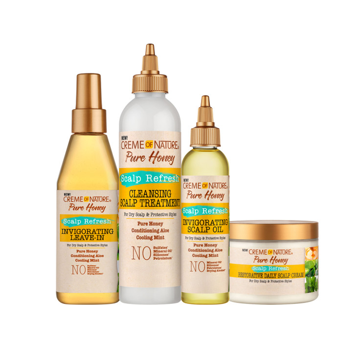 Creme of Nature® Pure Honey Scalp Refresh collection