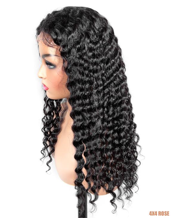 Bellatique 100% Virgin Brazilian Human Hair 4X4 Closure Wig - ROSE