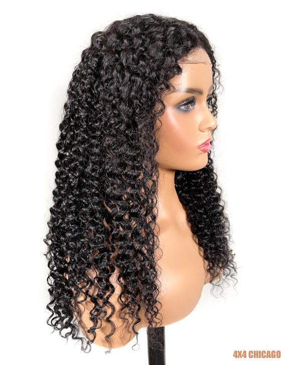 Bellatique 100% Virgin Brazilian Human Hair 4X4 Closure Wig - CHICAGO