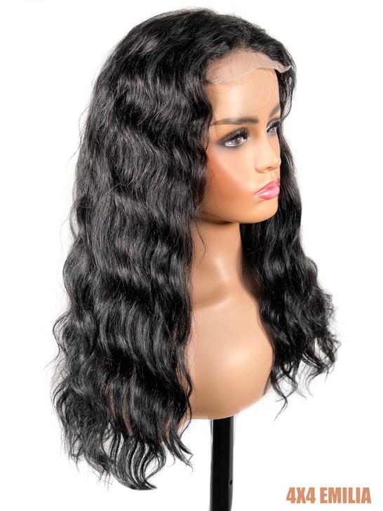 Bellatique 100% Virgin Brazilian Human Hair 4X4 Closure Wig - EMILIA