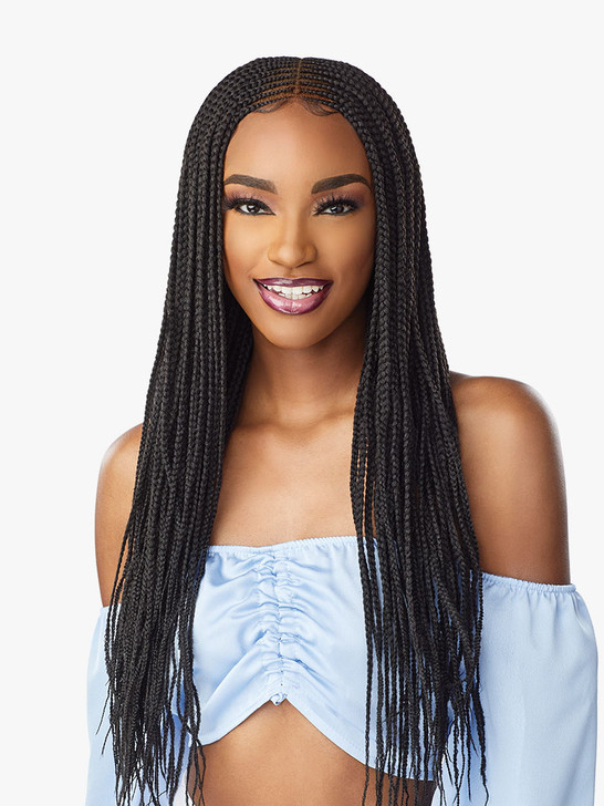 Sensationnel Cloud 9 4x5 Lace Parting 100% Hand-Braided HD Swiss Lace Wig - CENTER PART FEED-IN 28""