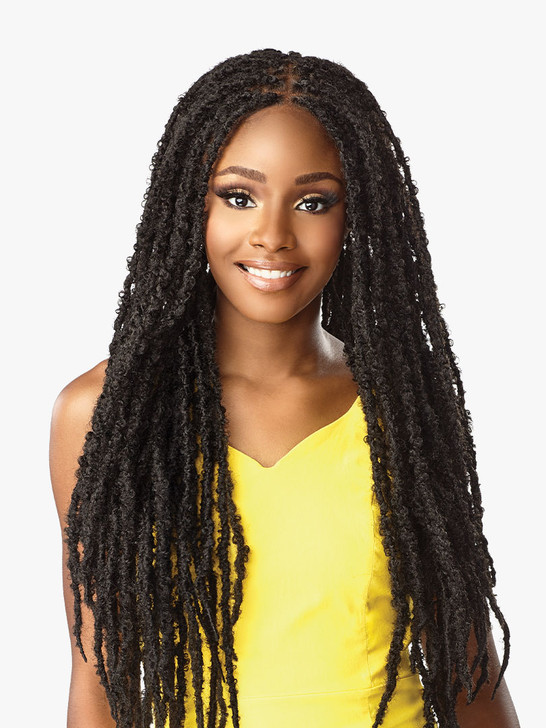 Sensationnel Cloud 9 Synthetic Swiss 100% Hand-Braided Lace Wig Wig - Butterfly Locs 30""