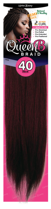 """Queen B Pre-Stretched Braiding Hair 40"""""""