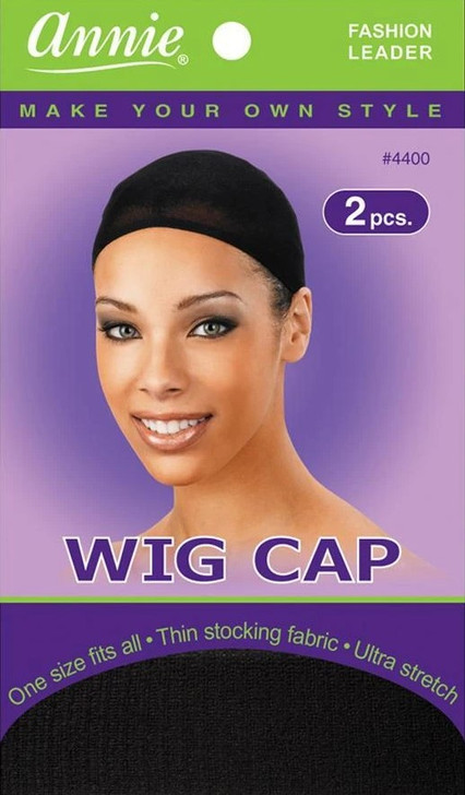 ONE SIZE FITS ALL WIG CAP BLACK