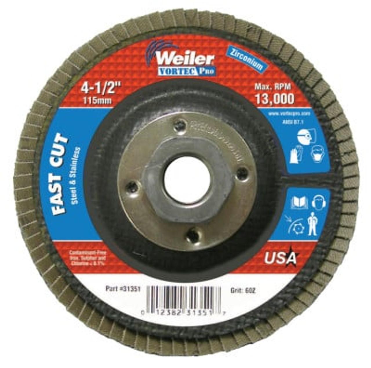Vortec Pro Abrasive Flap Discs,4 5