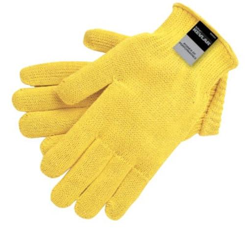 Kevlar Gloves, Large, Yellow, Seamless Knit