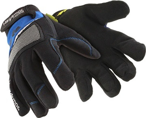 Cut Resistant Gloves, Uncoated Coating Material, High-Performance Polyethylene/SuperFabric(R)/Kevlar(R) Lining, 5 ANSI/ISEA Cut Level, Color Blue/Black, Hook-and-Loop Cuff, Size M, Coating Coverage Fingers, Thumb Style Straight, Finger Style Full, Palm Material Faux Leather, 1 Pair