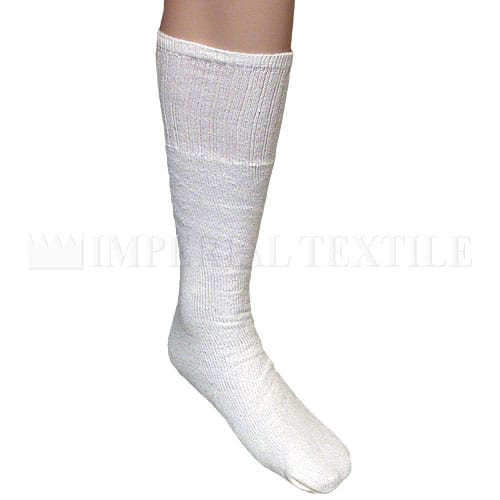1dz Men's Tube Style Sock - White