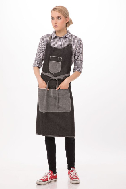 Bronx Bib Apron with Scoop Neckby Chef Works