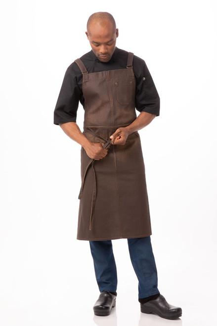 Galveston Chefs Cross-Back Bib Apronby Chef Works