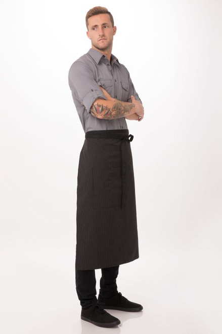 Bistro Apron with Contrasting Tiesby Chef Works