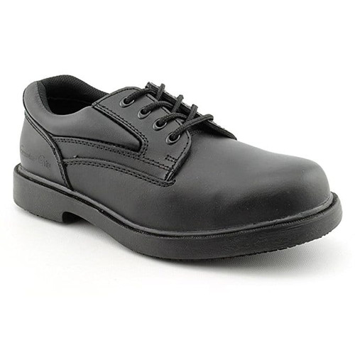 Men's Slip-Resistant Steel Toe Oxford Work Shoes