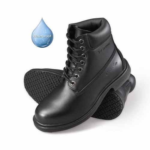 Women's Slip-Resistant Waterproof Soft Toe Work Boots