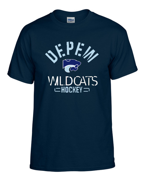 Depew Hockey Gildan DryBlend Short Sleeve Tee with Imprint Logo