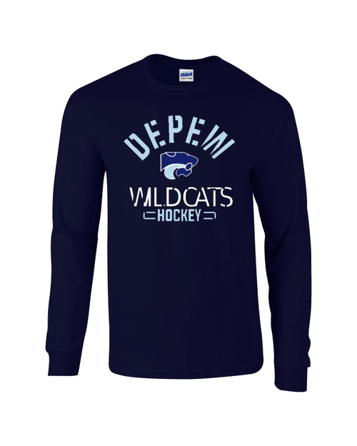 Depew Hockey Gildan DryBlend Long Sleeve Tee with Imprint Logo