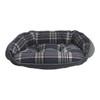 Bowsers Crescent Bed - Greystone Tartan