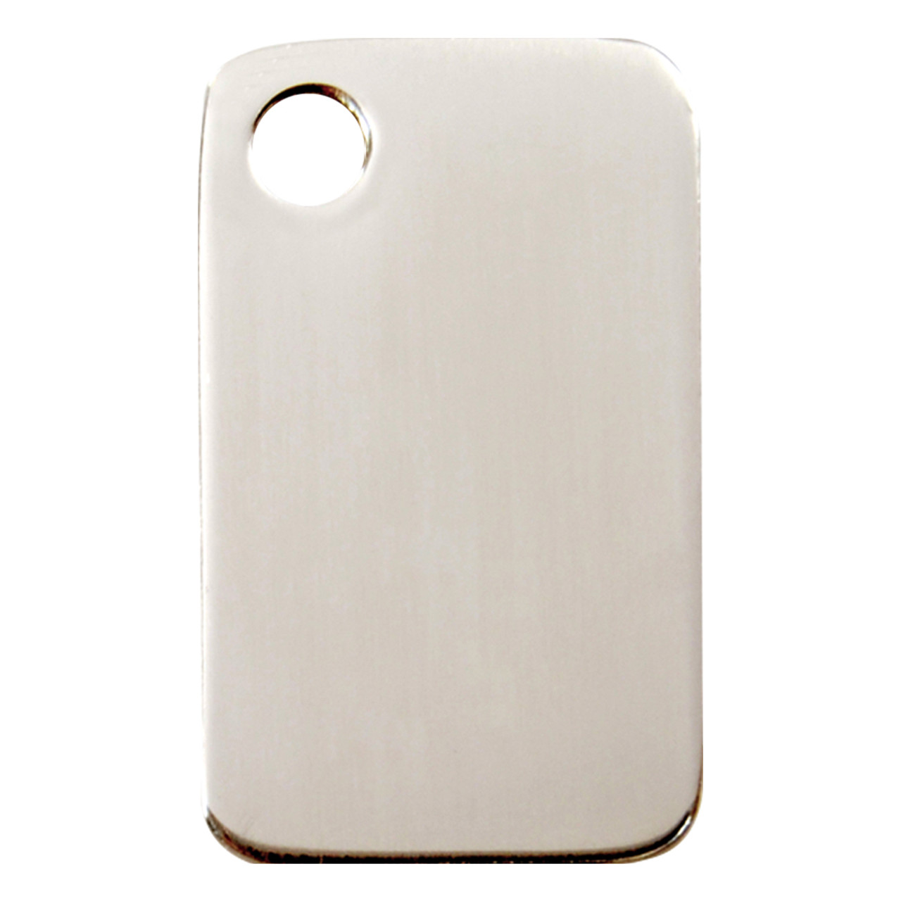 Flat Stainless Steel I.D. Tags